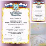 Итоги районного конкурса «Семья - мир творчества и вдохновения»